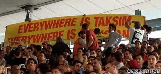 Arsenal maçında 'Gezi Parkı' pankartı