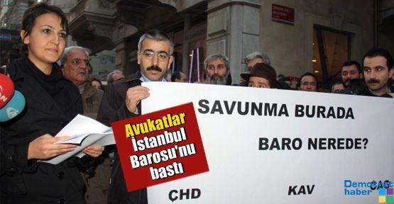 Avukatlar İstanbul Barosu'nu bastı