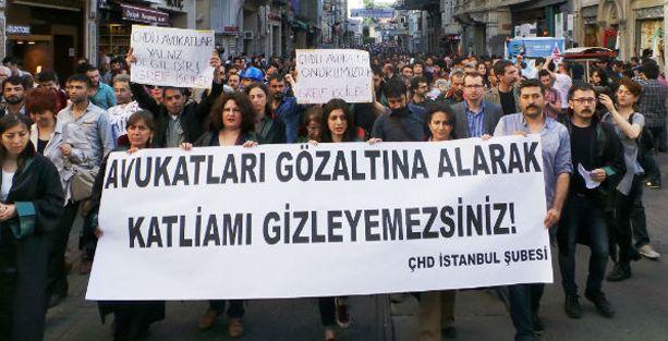 Avukatlara saldırı Taksim'de protesto edildi