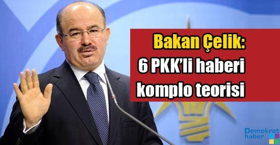 Bakan Çelik: 6 PKK'li haberi komplo teorisi