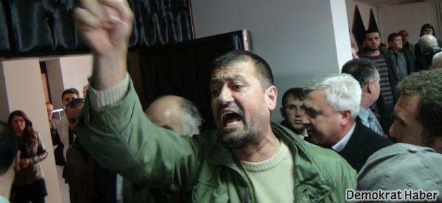 Bakan'a nükleer protestosu