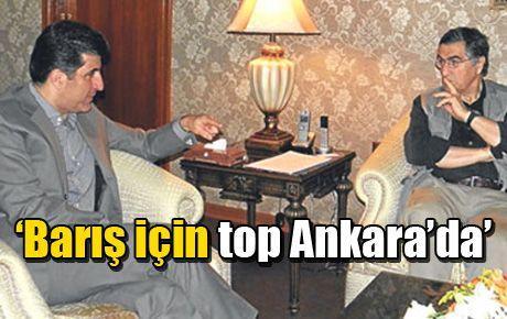 'Barış için top Ankara'da'