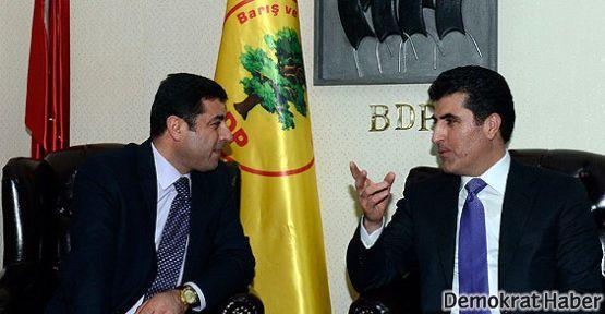 Barzani BDP'lilerle bir araya geldi