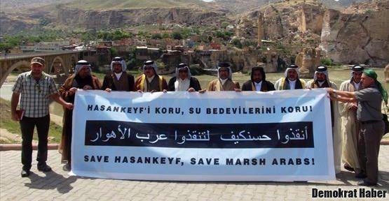 Basralı Su Bedevilerinden Hasankeyf'te eylem