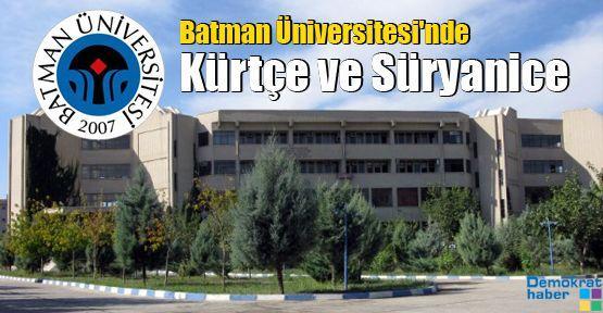 Batman Üniversitesi'nde Kürtçe ve Süryanice