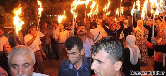 BDP'nin meşaleli yürüyüşüne polis engeli
