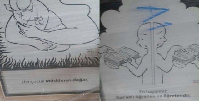 Belediye'den ilkokula 'Her çocuk Müslüman doğar' afişi