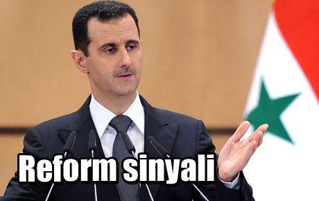 Beşar Esad'tan reform sinyali