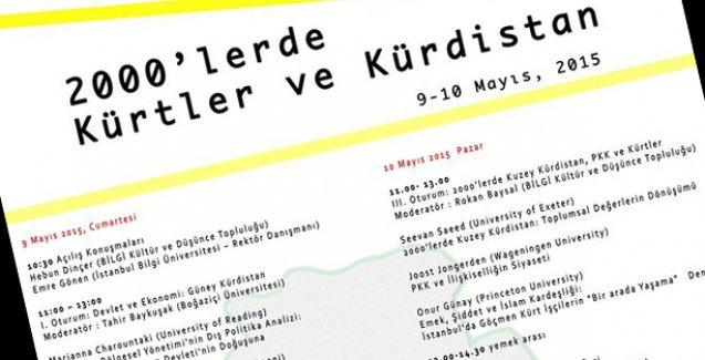 """Bilgi Üniversitesi'nde """"2000'lerde Kürtler ve Kürdistan"""" konuşulacak"""