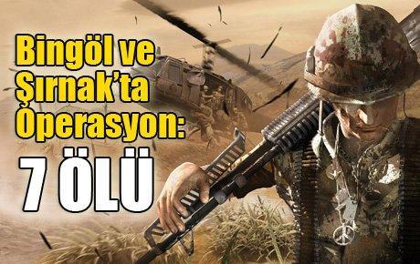 Bingöl ve Şırnak'ta Operasyon: 7 Ölü
