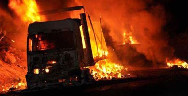 Bingöl'de 10 iş makinesi ateşe verildi