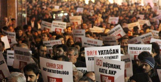Binlerce kişi Yatağan işçileri için yürüdü