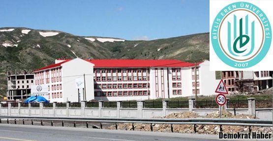 Bitlis Eren Üniversitesi'nde sonucu belli sınav