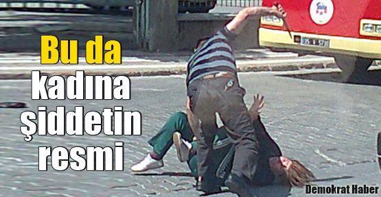 Bu da kadına şiddetin resmi