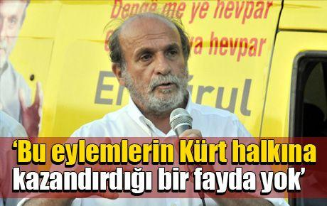 'Bu eylemlerin Kürt halkına kazandırdığı bir fayda yok'