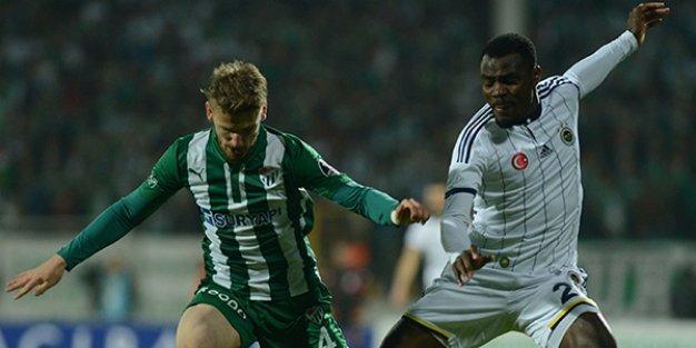 Bursaspor ile Fenerbahçe yenişemedi