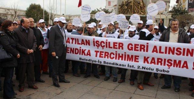 CHP'li Bakırköy Belediyesi'nin 'sendika düşmanlığı' protesto edildi