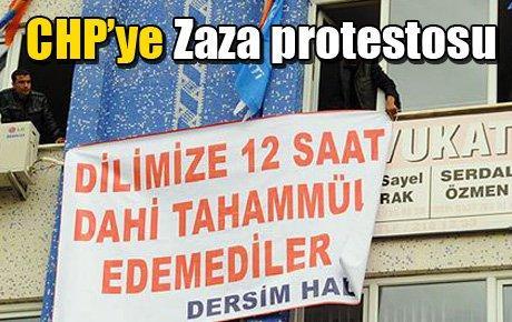 CHP'ye Zaza protestosu