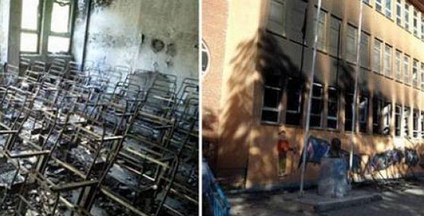 Cizre'de 3 devlet okulu yakıldı!