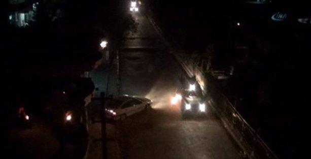 Cizre'de karakol önündeki zırhlı araca roketli saldırı