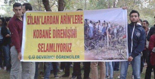 Çukurova Üniversitesi'ndeki Kobani eylemine polis saldırdı
