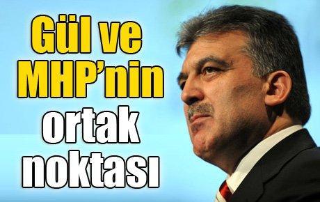Cumhurbaşkanı ve MHP'nin ortak noktası