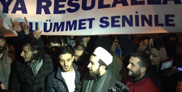 Cumhuriyet gazetesinin önünde Paris katliamcılarına destek sloganları