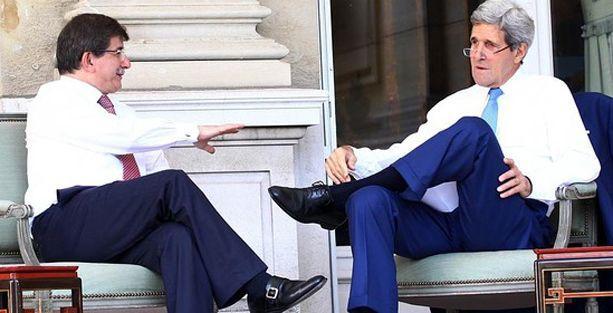 Davutoğlu ve Kerry, Gazze'yi böyle konuşuyor