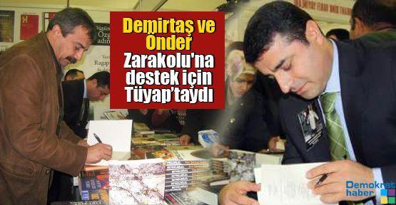 Demirtaş ve Önder Zarakolu'na destek için Tüyap'taydı