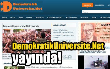 DemokratikUniversite.Net yayında!