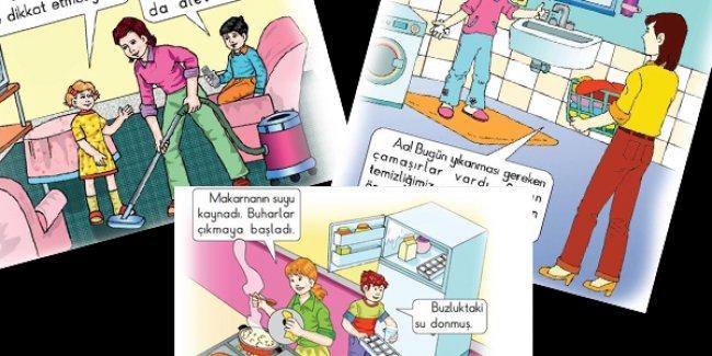 Ders kitaplarında anne portresi: Ev işlerinden, çocuklardan ve yemekten sorumlu