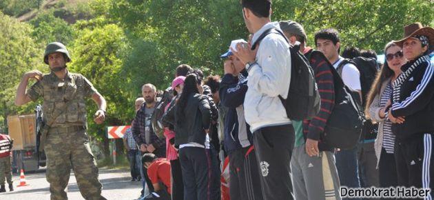 Dersim'de doğa aktivistlerine asker engeli