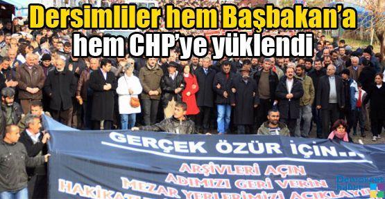 Dersimliler hem Başbakan'a hem CHP'ye yüklendi