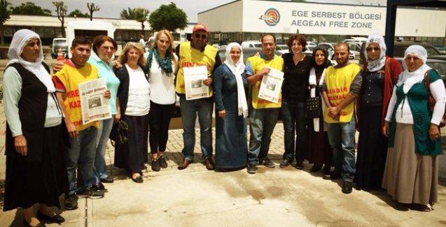 Direnişteki işçilere HDP'den destek
