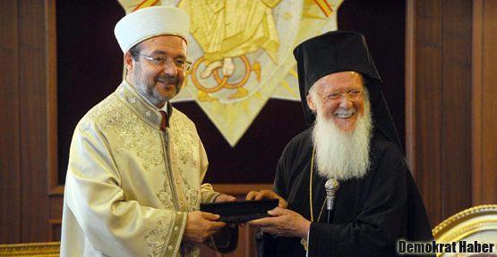 Diyanet İşleri Başkanı, Patrikhane'yi ziyaret etti