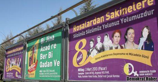 Diyarbakır'da 8 Mart afişleri yasaklandı