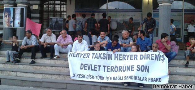 Diyarbakır'da 'çapulcular'a destek eylemi