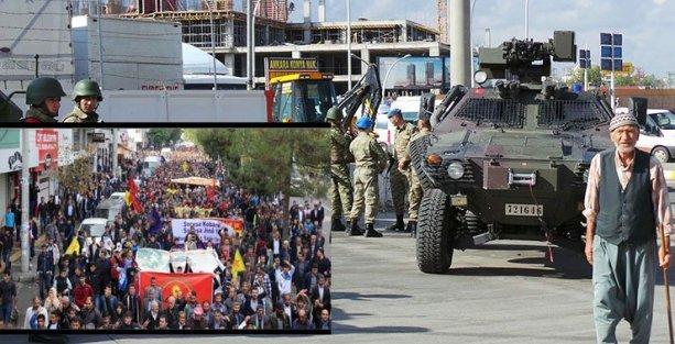 Diyarbakır'da Kobani'ye destek yürüyüşü
