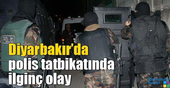 Diyarbakır'daki polis tatbikatında ilginç olay