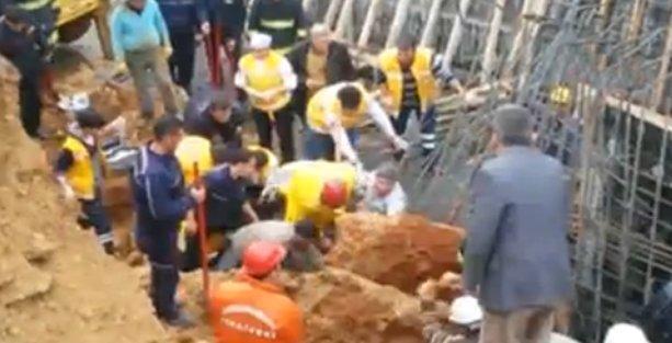 DSİ kazısında göçük: İşçiler mahsur!