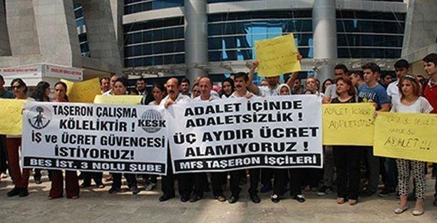 Dünyanın en büyük adalet sarayında işçilere maaş yok!