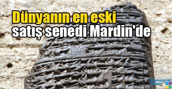 Dünyanın en eski satış senedi Mardin'de