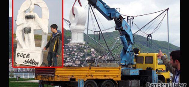 'Edepsiz heykeller' yeni yerlerine taşındı
