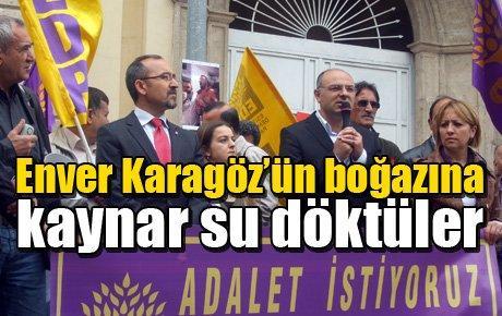 Enver Karagöz'ün boğazına kaynar su döktüler