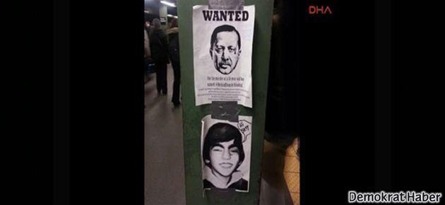 Erdoğan için New York'ta 'aranıyor' afişi