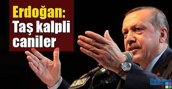 Erdoğan: Taş kalpli caniler
