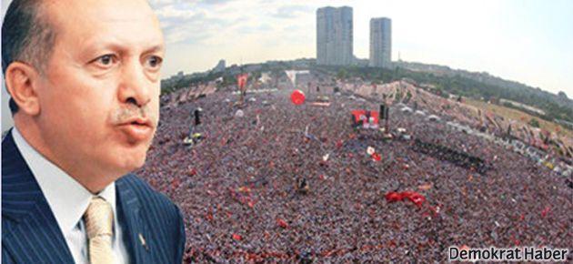 Erdoğan'ın mitingine gitmeyene iş yok!