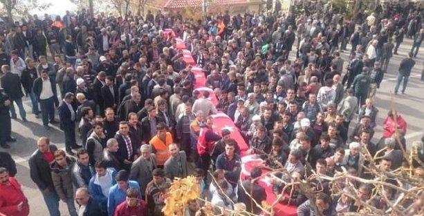 Ermenek'te 8 işçi için tören