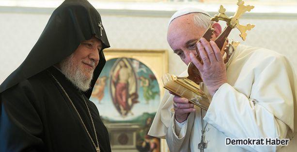 Ermeni Katolikosu Papa'yla görüştü