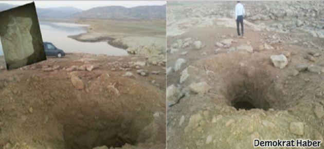 Ermeni mezarları delik deşik